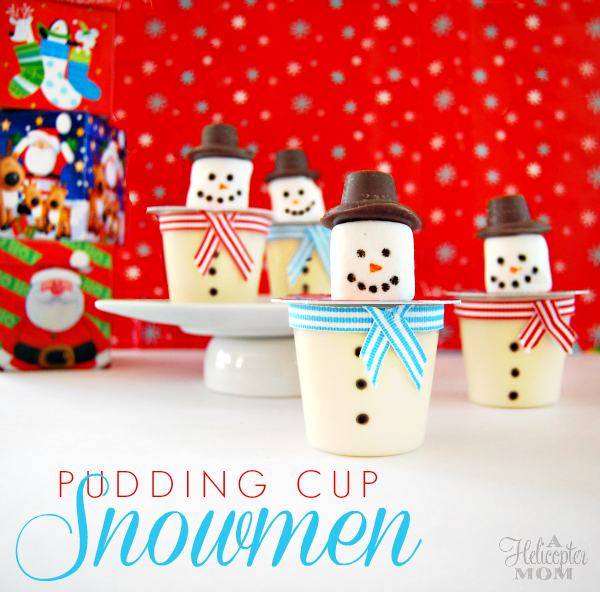 Fun and Easy Pudding Cup Snowmen