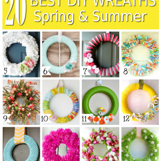 20 Easy DIY Spring & Summer Wreaths