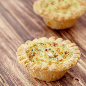Easy Bacon and Cheese Mini Quiche Recipe