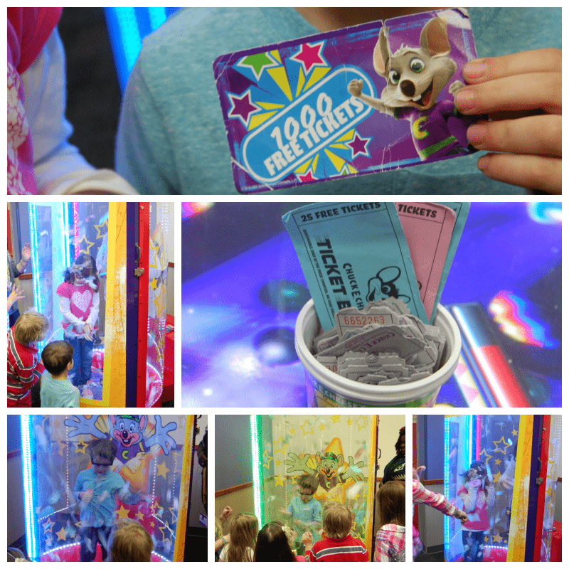 The Ticket Blaster at Chuck E. Cheese Birthday Party