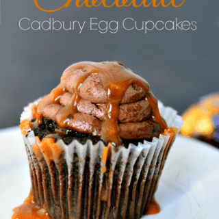 Caramel Chocolate Cadbury Egg Easy Cupcake Recipe