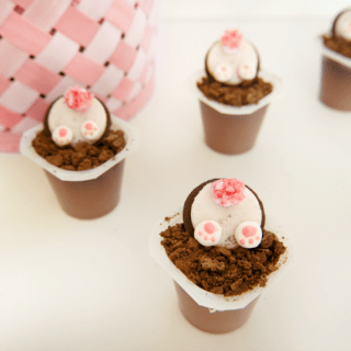 Bunny Butt Pudding Cups Easter Treats