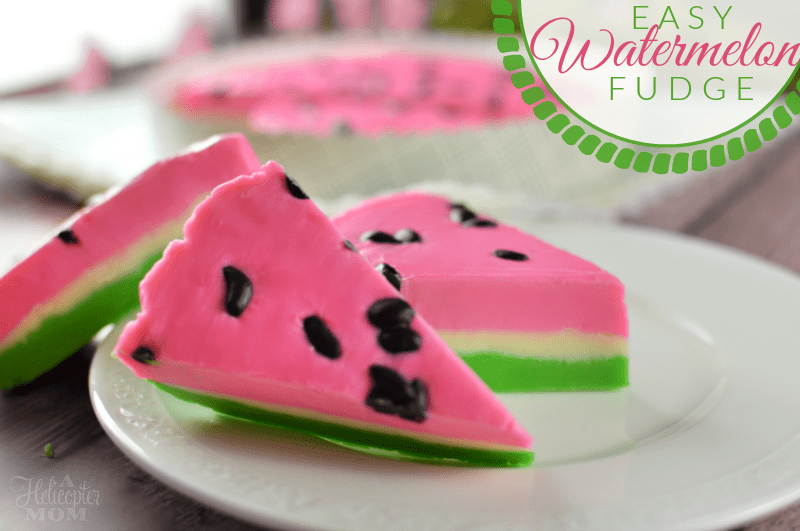 Watermelon Fudge - super simple fudge recipe that's perfect for summer cookouts and parties!