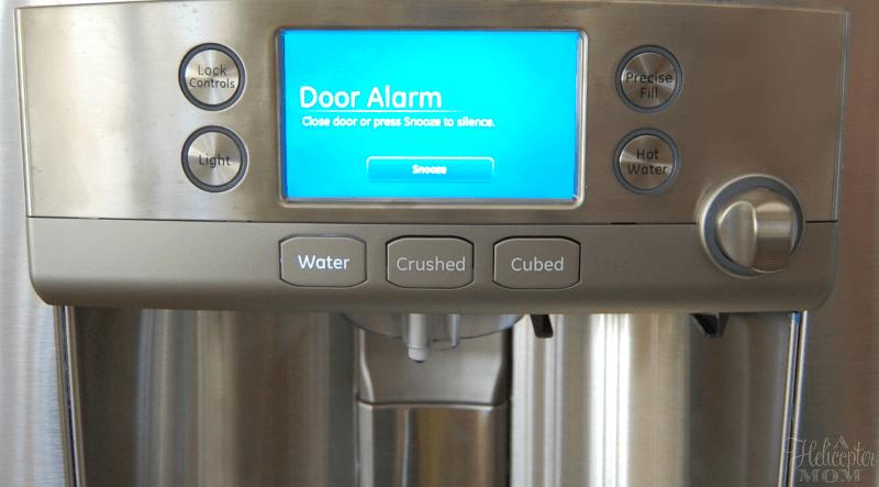 love the door alarm ge cafe fridge with keurig brewer