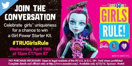 TRUGirlsRule Monster High and Barbie Twitter Party