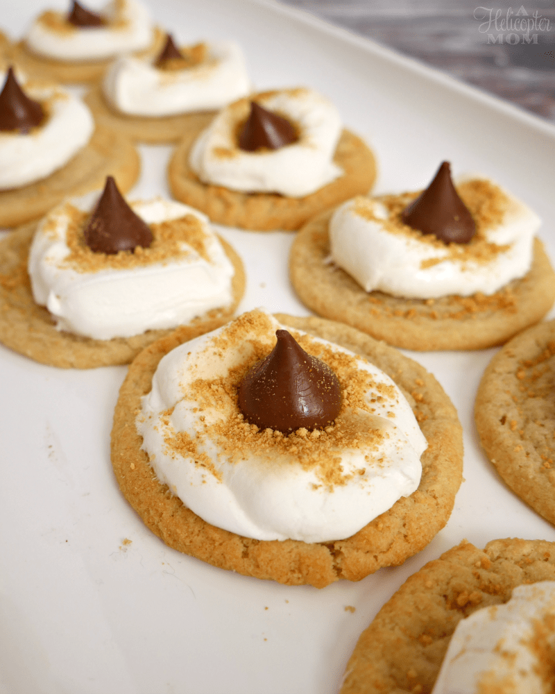 Easy S'mores Hershey's Kiss Cookies Recipe