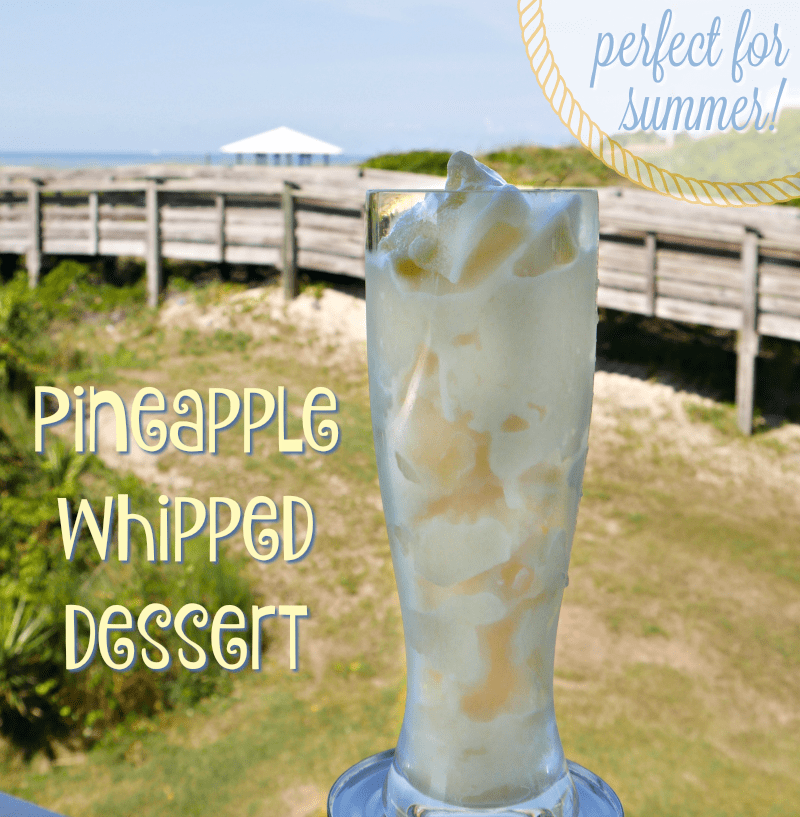 Pineapple Whipped Dessert Recipe - Perfect for summer!