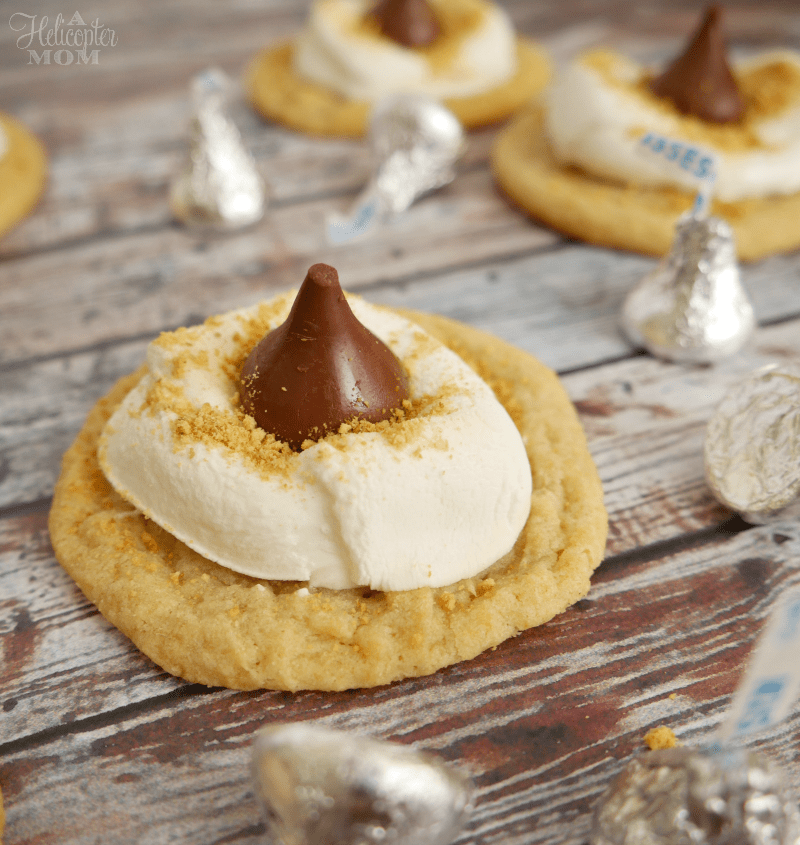 S'mores Hershey's Kiss Cookie Recipe