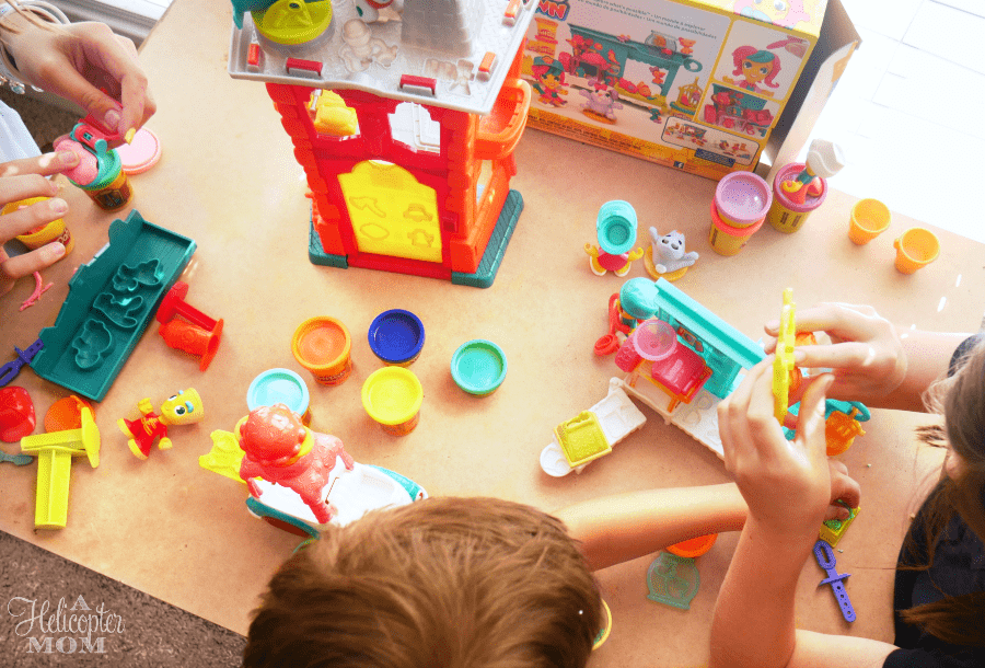Playing with Play-Doh Town