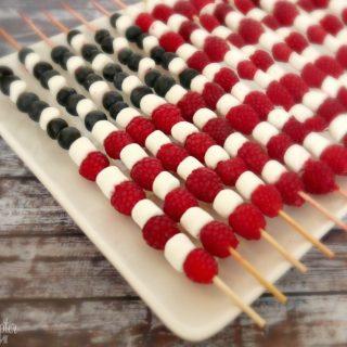 4th of July American Flag Fruit Skewers