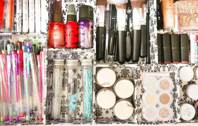 Easy and Inexpensive DIY Makeup & Office Organizer