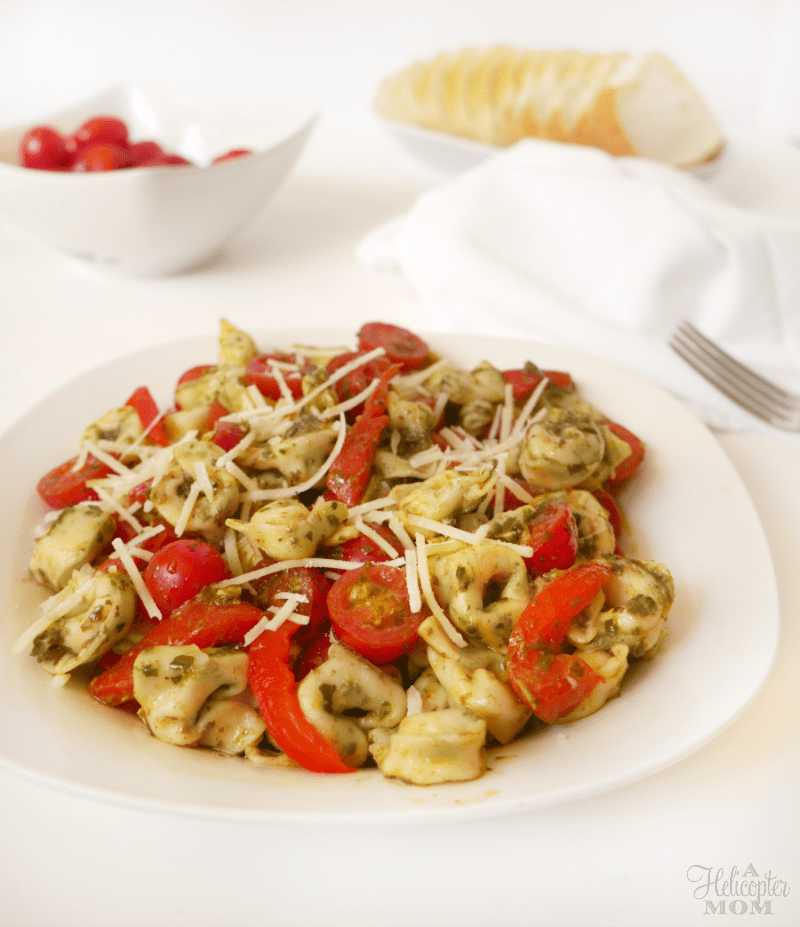 Easy Pesto and Three Cheese Tortellini Recipe
