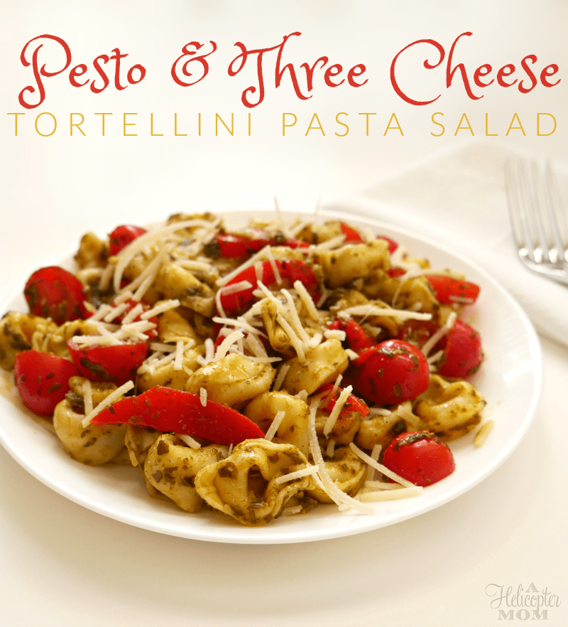 Pesto and Three Cheese Tortellini Pasta Salad - Easy Recipe