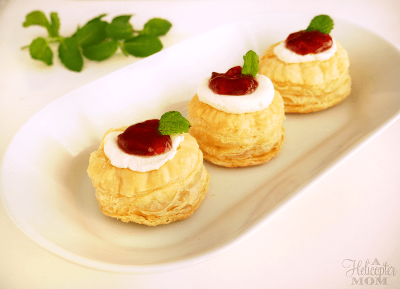 Puff Pastry Bites with Goat Cheese and Strawberry Pepper Jelly