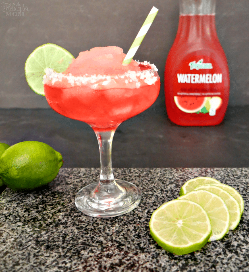 Easy Watermelon Margaritas Recipe - A Helicopter Mom