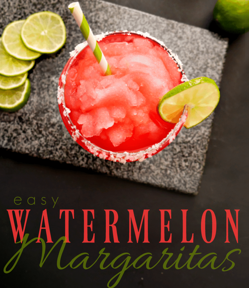 Easy Watermelon Margaritas - these are soooo good!