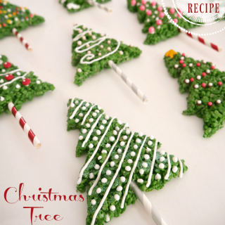 Easy Christmas Tree Rice Krispies Treats