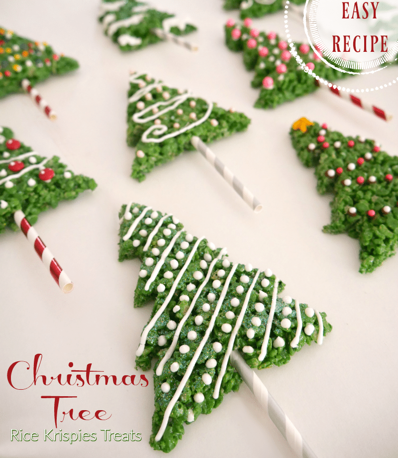 recipe easy rice krispies treat christmas trees