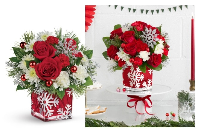 Teleflora's Silver Christmas Bouquet Gift Code Giveaway