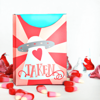 Valentine's Day Free Printable Treat Box – Heart Taken