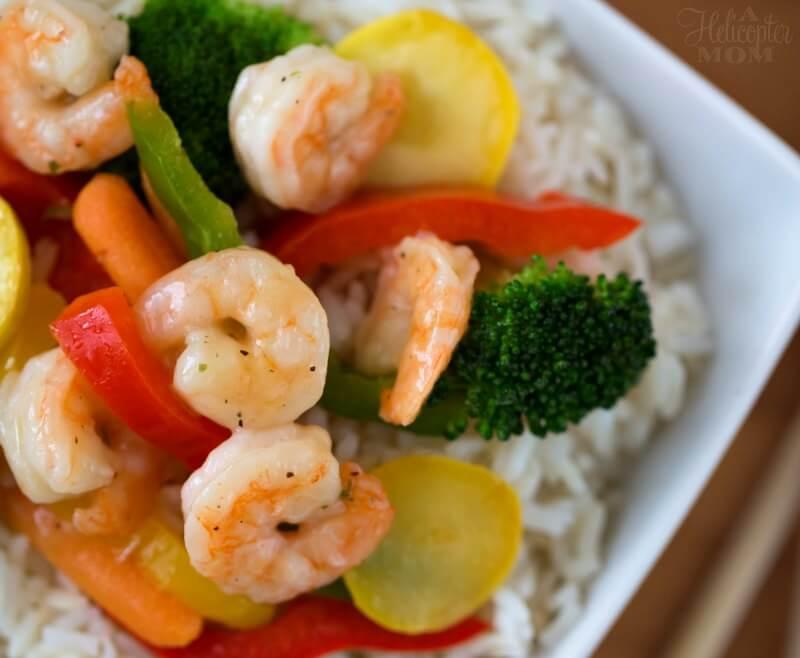 Easy Garlic Shrimp Scampi Stir Fry