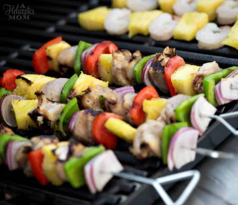 Honey Grilled Chicken Kabobs
