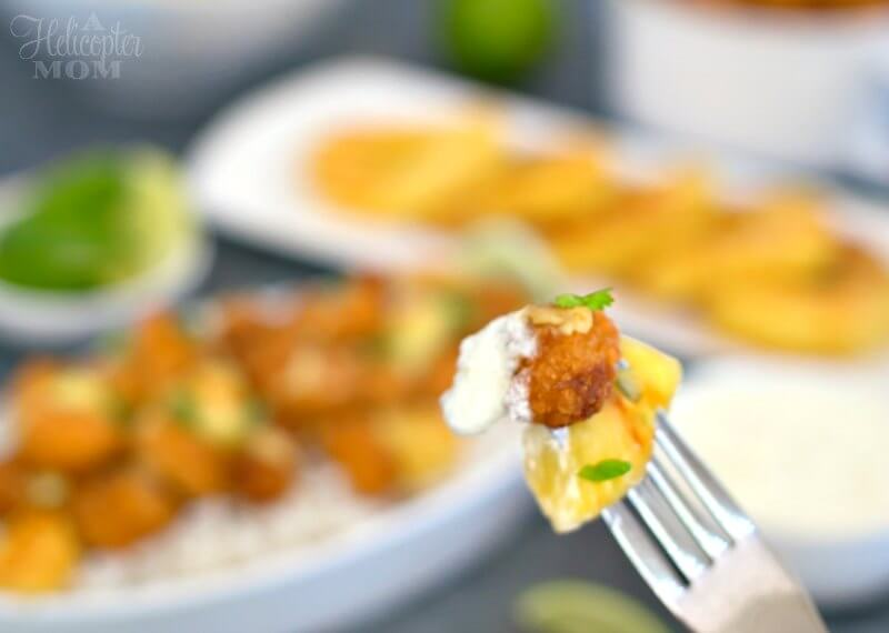 Easy Pineapple Popcorn Shrimp Recipe with Pina Colada Dipping Sauce