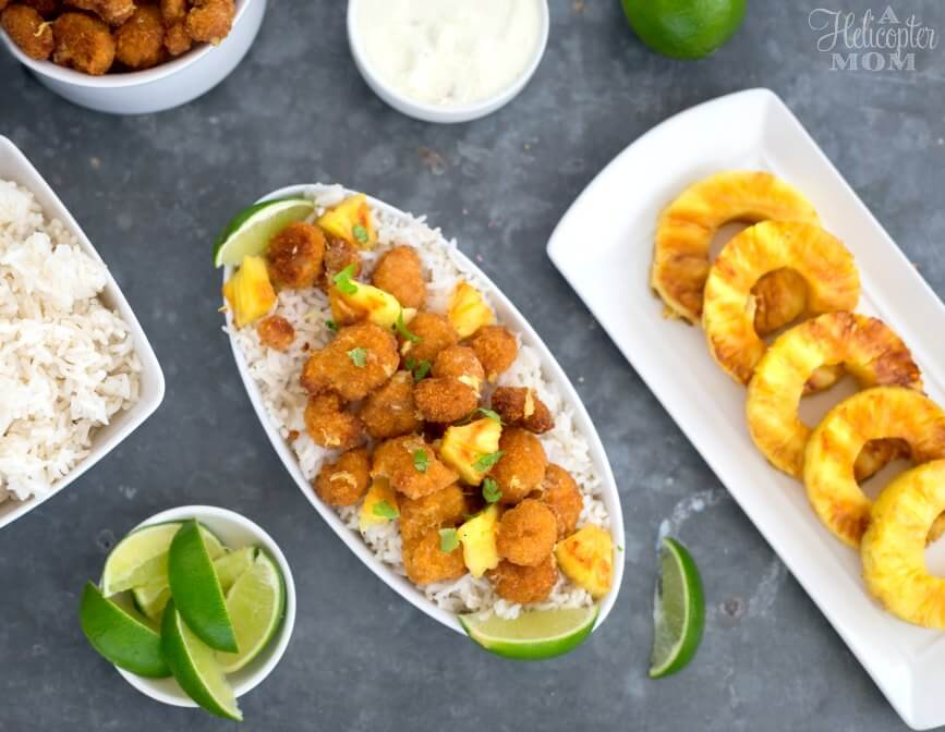 Easy Pineapple Shrimp Recipe with Pina Colada Dipping Sauce