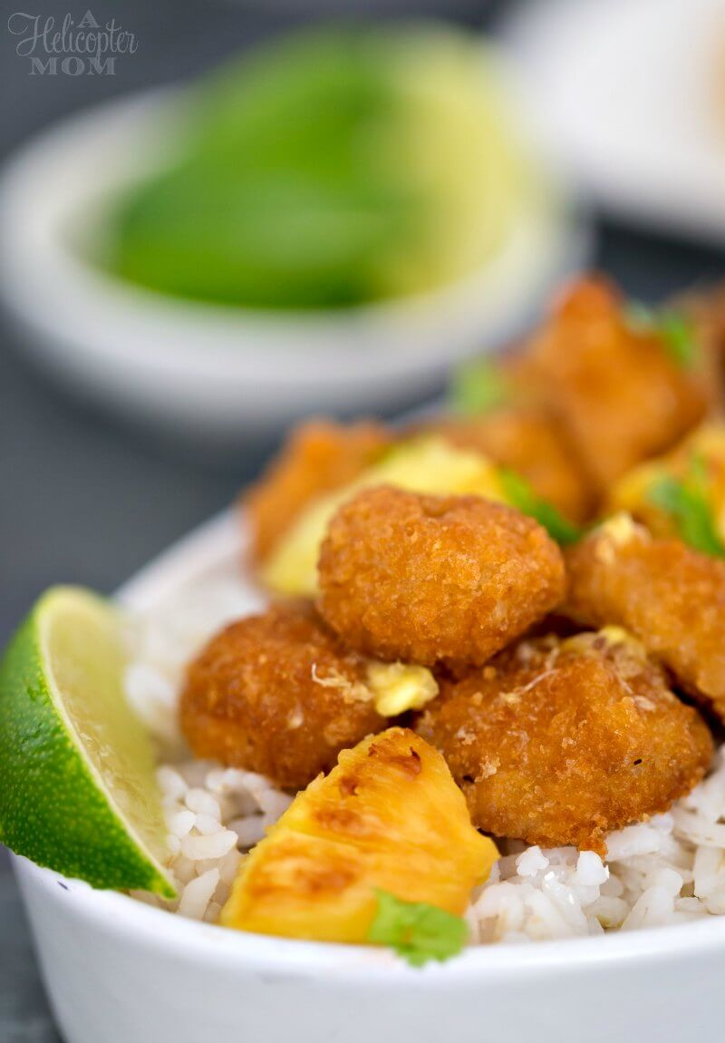 Pineapple Shrimp Recipe with Pina Colada Dipping Sauce