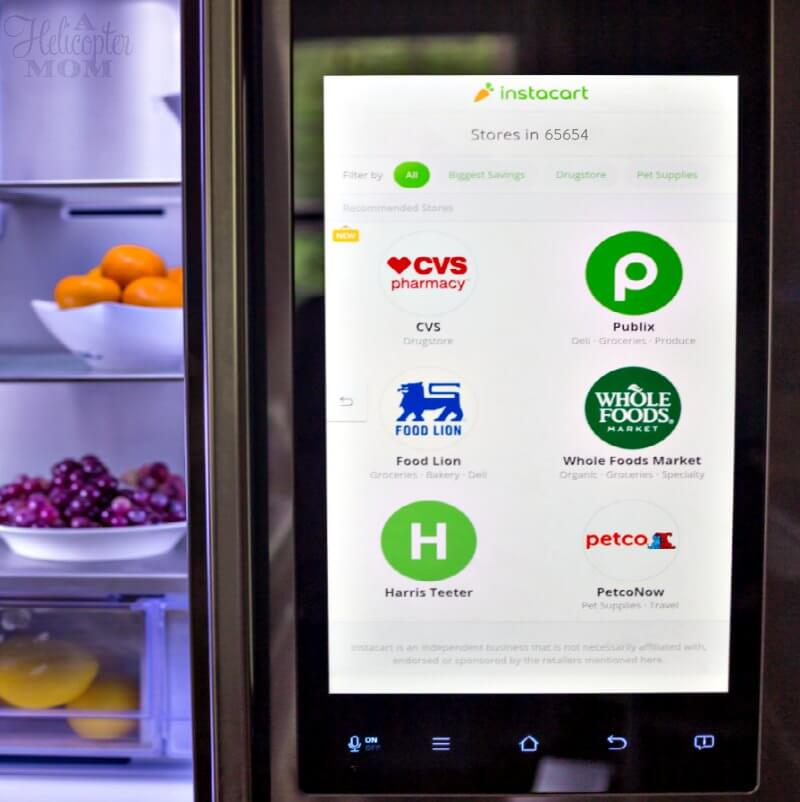 Samsung Family Hub 2.0 Instacart Food Orders