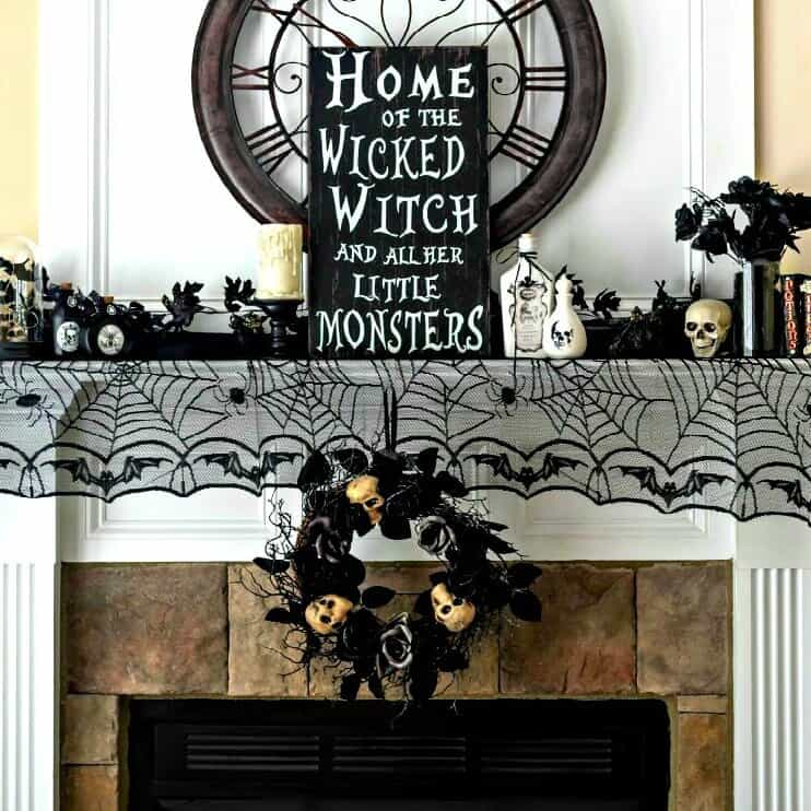 Halloween Home Decor - Mantel Ideas and Inspiration