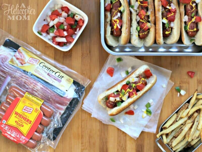 Bacon Wrapped Hot Dogs Recipe on A Helicopter Mom