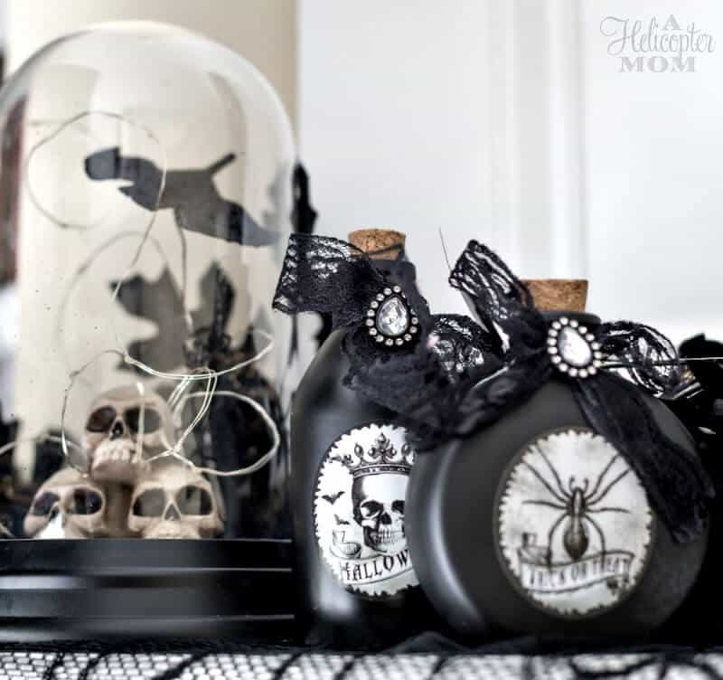 Halloween Home Decor - Mantel Ideas