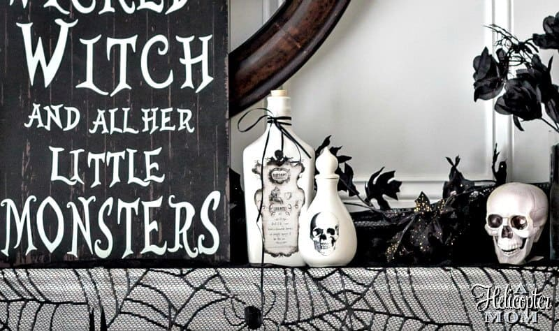 Halloween Home Decor - Mantel Inspiration
