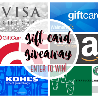 Gift Card Giveaway – Winner's Choice!