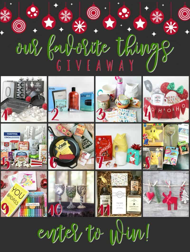 Our Favorite Things holiday Giveaway on A Helicopter Mom