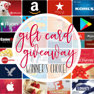 Gift Card Prize Package Giveaway – Winner's Choice!