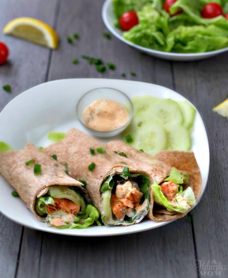 Lemon Dill Dijon Salmon Wrap WW Recipe