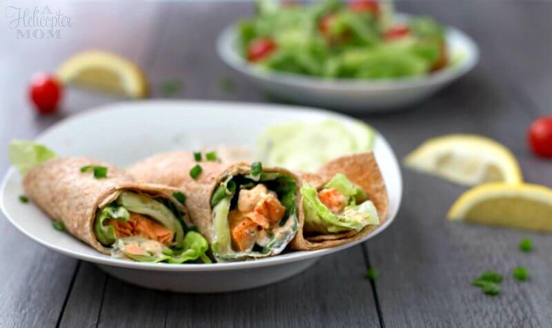 Lemon Dill Dijon Salmon Wrap Recipe