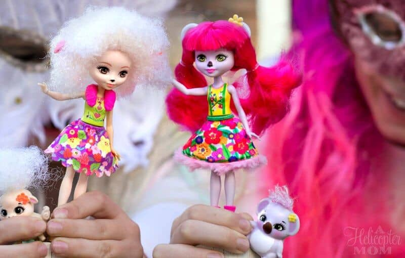 Children Playing with Enchantimals Dolls and Their Furry Friends