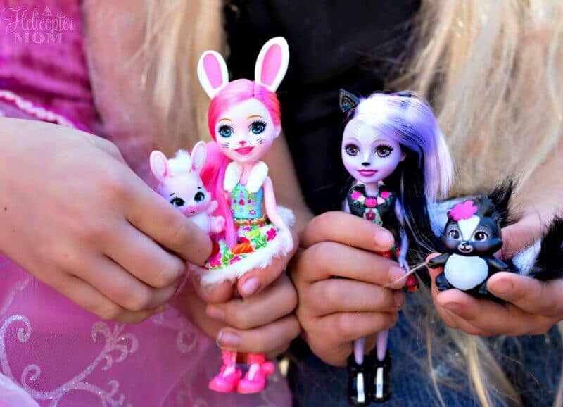 Children Playing with Enchantimals Dolls