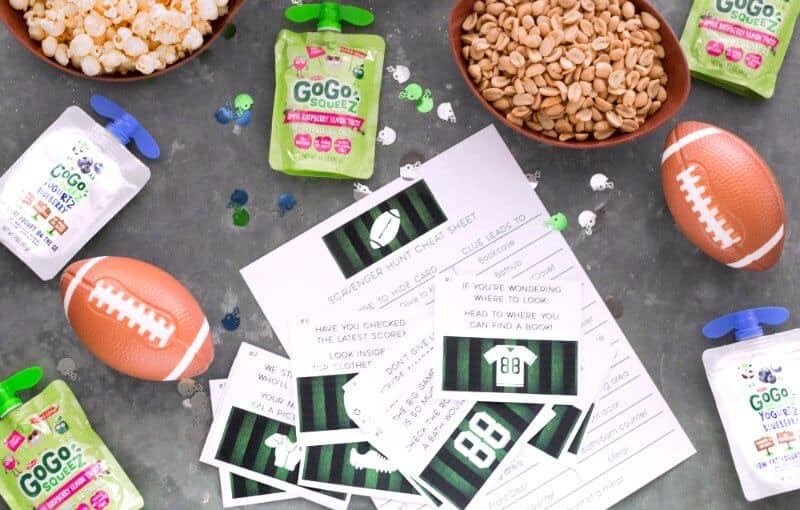 Football Game Day Fun and Free Scavenger Hunt Printable