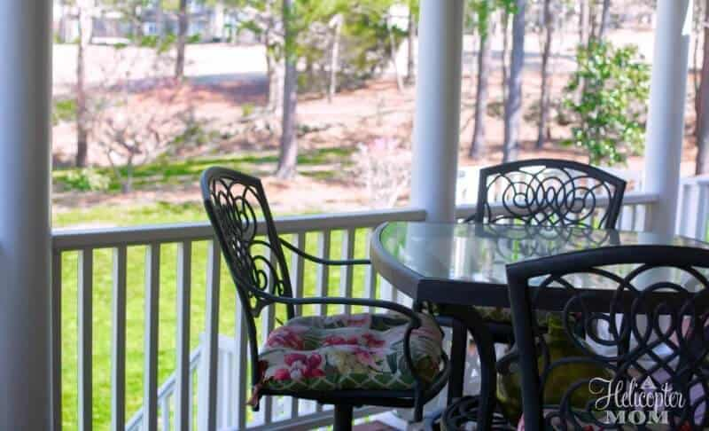 Spring Lawn Care - Our Back Deck and Yard