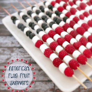 4th of July American Flag Fruit Skewers