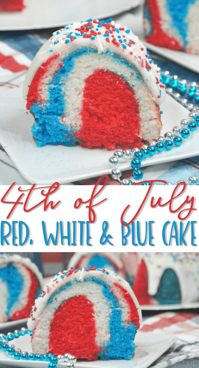 Red, White and Blue Cake #4thofjuly #patriotic #usa