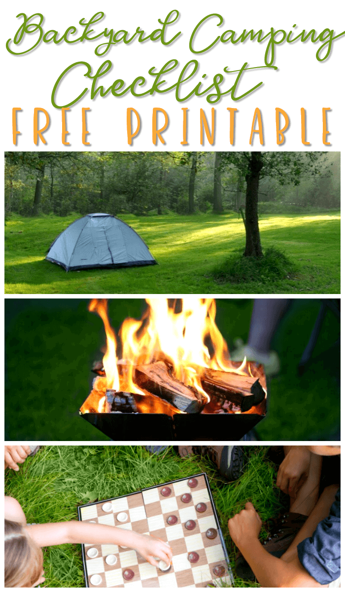 Backyard Camping Ideas - Free Printable Checklist