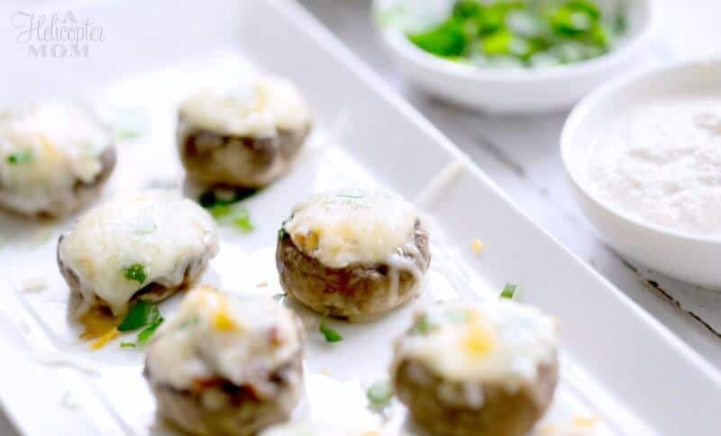 Cheese Bacon Stuffed Mushrooms
