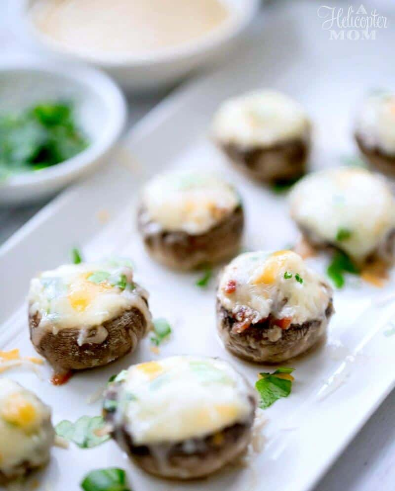 Cheese and Bacon Stuffed Mushrooms Recipe