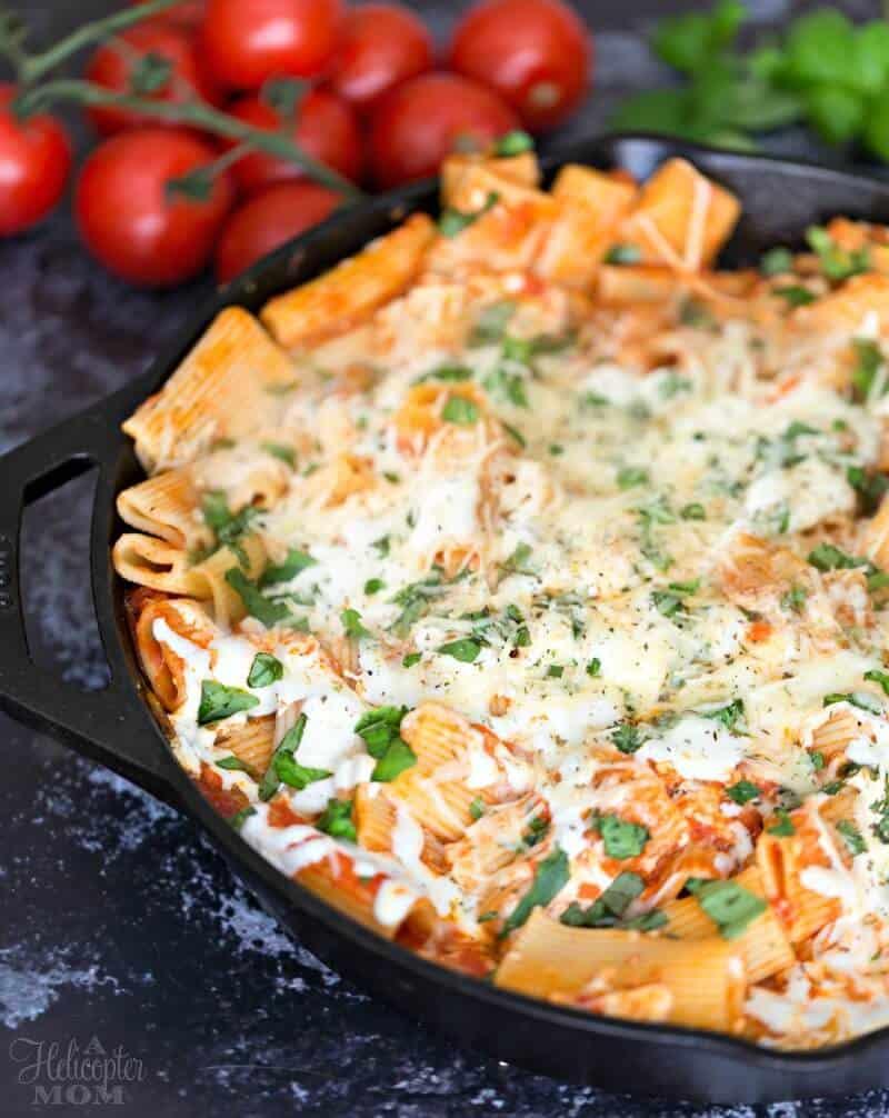 30 Minute Chicken Parmesan Pasta