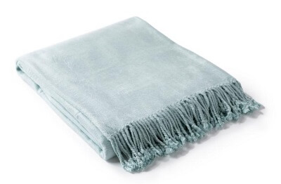 Easy Ways to Update Home Decor Soft Blue Throw